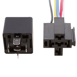 3 Pieces 24V 40A 5 Pin SPDT Relay With Socket Harness Automotive Electronic