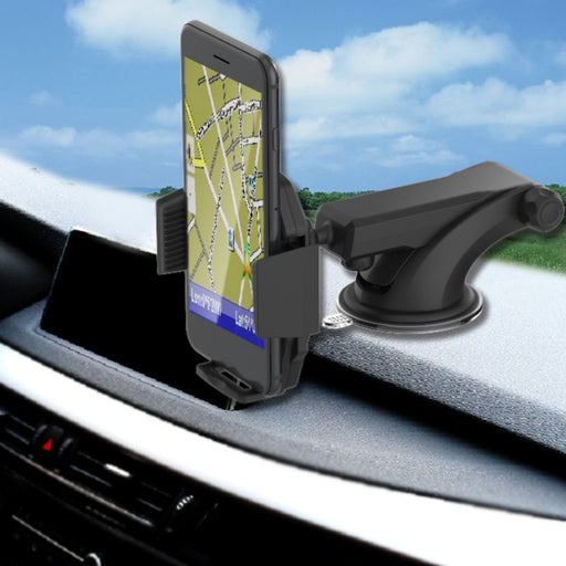 NEW Dashboard and Windshield Magnetic Universal Car Mount Holder Telescopic Arm Suction Cup for iPhone X, 8, 7, 6, 6S, Galaxy S8, S7, S7 Edge