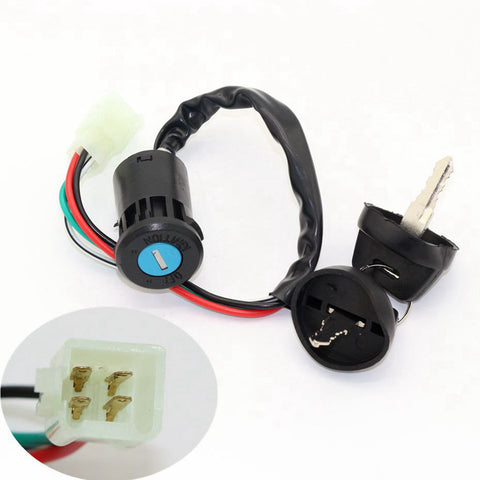 Image of KEY IGNITION SWITCH FOR SUPER DIRT BIKE ATV Taotao Sunl Roketa Chinese 4pin