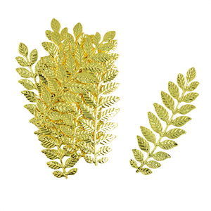 12 Pieces Filigree Leaf Branch Charm Pendant Jewelry Making Findings Gold