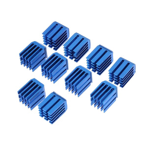 10 Pcs 3D Printer Parts Accessories Blue Cooling Block Heatsink for TMC2100
