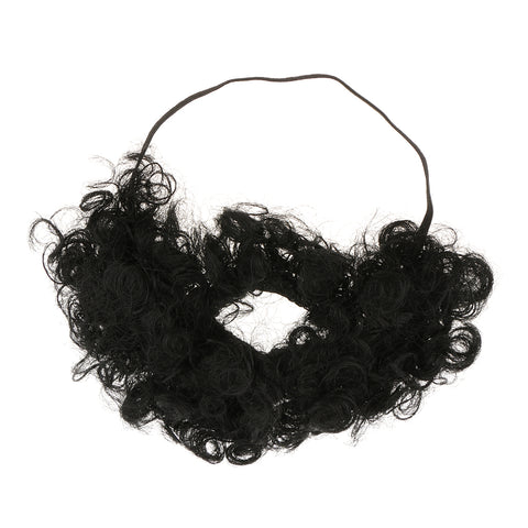 Image of Novelty Afro Beard Mustache Macho Facial Hair Makeup Prop Party Fancy Dress