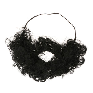 Novelty Afro Beard Mustache Macho Facial Hair Makeup Prop Party Fancy Dress