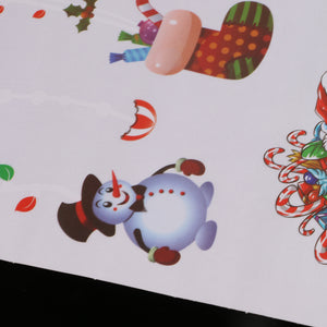 Christmas Santa Claus Window Stickers Decal Christmas Ornaments Party Supplies - 803