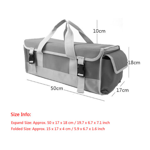 Image of Multi-use Foldable Outdoor Camping Tent Peg Nails Storage Case Hammer Organize Bag