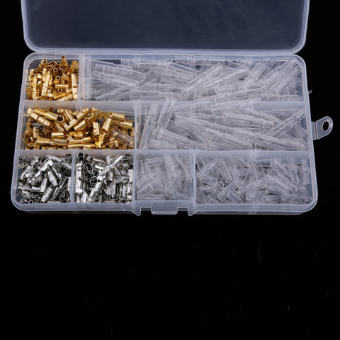 Image of 100 Sets Car 3.9mm Bullet Connectors Male & Female Wire Terminals Insulation