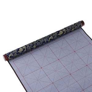 Magic Cloth Water-writing Fabric for Practicing Chinese Calligraphy w/ Frame Repeat Practice Water Writing Cloth Gifts Blue