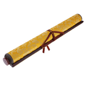 Magic Cloth Water-writing Fabric for Practicing Chinese Calligraphy w/ Frame Repeat Practice Water Writing Cloth Gifts Yellow