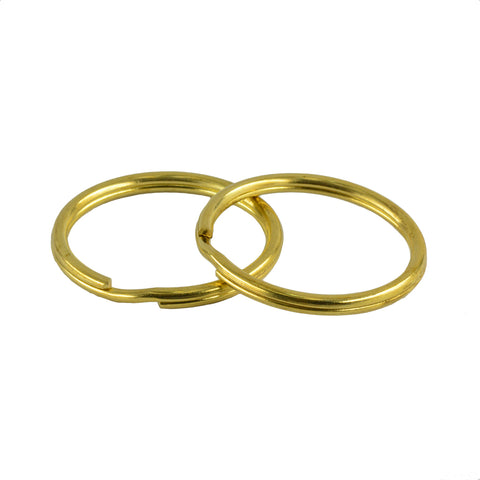 Image of 10 Pieces Gold Brass Metal Key Rings Chains Split Ring Hoop Accessories 32mm