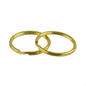 10 Pieces Gold Brass Metal Key Rings Chains Split Ring Hoop Accessories 32mm