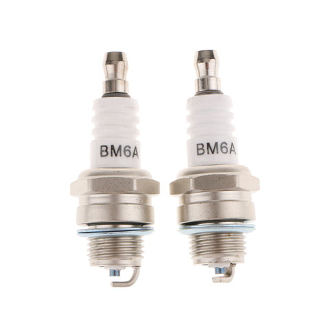 Image of 2 Pieces Engine Standard Spark Plug BM6A For Chainsaw Lawn Mower Strimmer