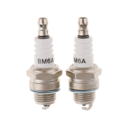 2 Pieces Engine Standard Spark Plug BM6A For Chainsaw Lawn Mower Strimmer