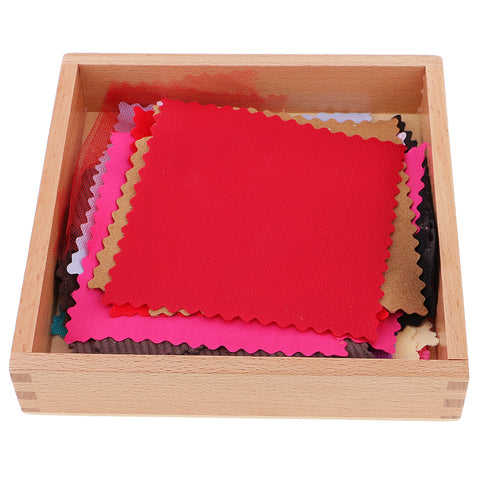 Image of Montessori Fabric Cloth Box Kids Children Sensory Touching Sense Early Developing Toy