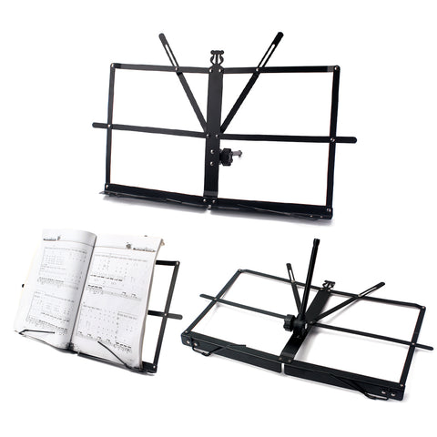 Image of Adjustable Steel Sheet Music Stand Holder Folding Bracket Easy to Carry