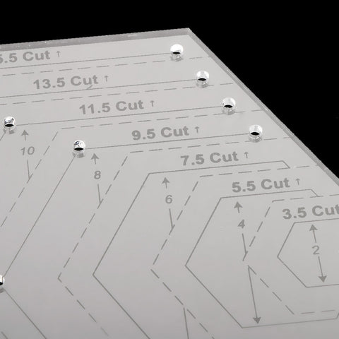 Image of 15.5 Cut Clear Quilting Sewing Patchwork Craft Scale Ruler Hexagon Ruler DIY