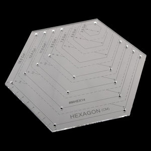 15.5 Cut Clear Quilting Sewing Patchwork Craft Scale Ruler Hexagon Ruler DIY