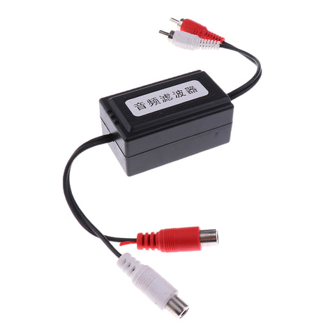 Universal Car 2 RCA to 2 RCA Stereo Ground Loop Isolator Audio Filter 2-Channel