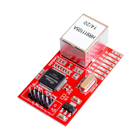 Image of W5100 Ethernet Shield Expansion Board Network Module For Arduino Red