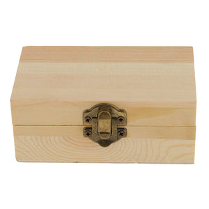 Blank Rectangle Unfinished Wooden Jewelry Gift Box for Kid DIY Craft Supplies 11x6.9cm