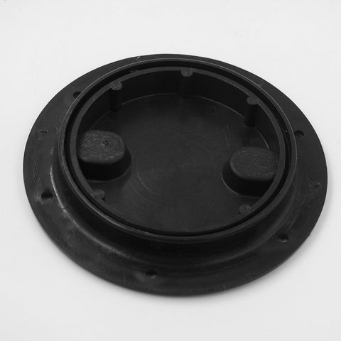 "Image of Marine Plastic 163 mm / 6"" Deck Plate - Black Inspection Plate for Boat RV"