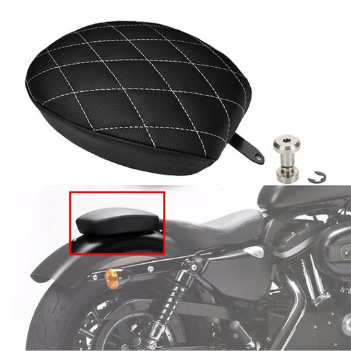 Cushion Rear Seat Passenger Pillion Pad For Harley Sportster XL 1200 883 72
