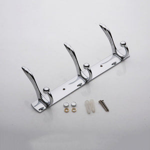 3 Hooks Coat Hat Towel Robe Holder Rack Wall Mount Hanger Home Bedroom kitchen Bathroom Wall Decor Stainless Hook