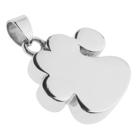 Image of Cremation Jewelry Dog Cat Paw Pendant Keepsake Memorial Urn Pet Ashes Holder