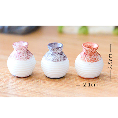 Image of Miniature Delicate Vase Plant Landscape Micro Landschaft Bonsai Garden Decor