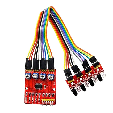 Image of Tracking Module Infrared Detection Sensor Module DIY For Arduino 4 Channel