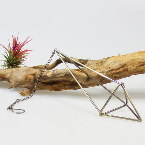 Image of Hanging Metal Air Plant Holder Pot Planter Container 34cm with Chain