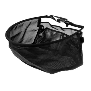 Nylon Fly Fishing Line Tray String Bag Nylon Mesh Stripping Basket Waist Net with Two Pockets Black