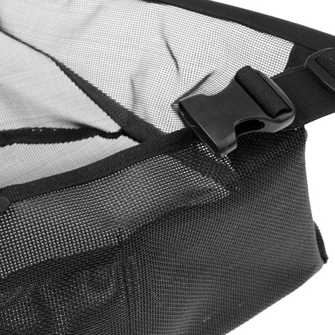 Image of Nylon Fly Fishing Line Tray String Bag Nylon Mesh Stripping Basket Waist Net with Two Pockets Black