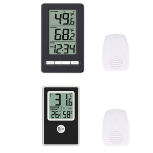 Wireless Thermometer with Indoor Outdoor Temperature and Humidity Display