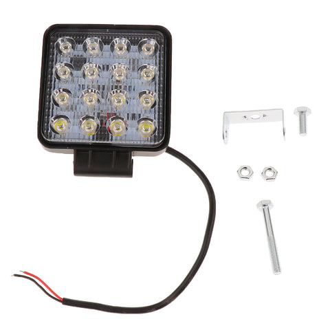 Image of 5 '' Square 48W LED Work Light Flood Lamp ATV Truck Boat Auto Car 12V/24V
