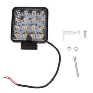 5 '' Square 48W LED Work Light Flood Lamp ATV Truck Boat Auto Car 12V/24V