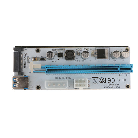 Image of 008S PCI-E Express 1x To16x Extender Riser Card Adapter With  USB3.0 Cable