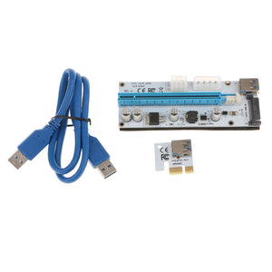 008S PCI-E Express 1x To16x Extender Riser Card Adapter With  USB3.0 Cable