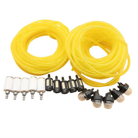 2 Sizes Petrol Fuel Line Hose with Fuel Filter Primer Bulbs Chainsaw Parts