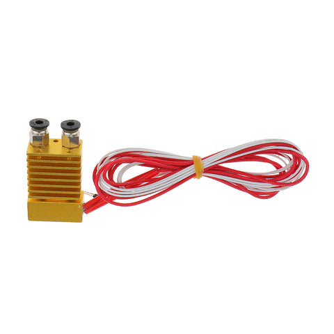 Image of 3D Printer Single Head Nozzle Extruder 0.4mm 1.75mm Mixed Color HotEnd