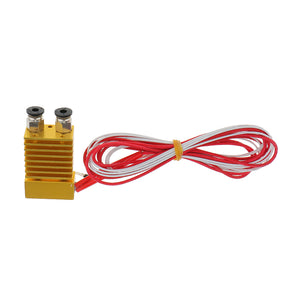 3D Printer Single Head Nozzle Extruder 0.4mm 1.75mm Mixed Color HotEnd
