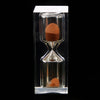 10 Minutes Acrylic Crystal Sandglass Hourglass for Kitchen Sand TimerGame Supplies Orange