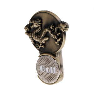 Zodiac Dragon Magnetic Hat Clip Golf Ball Markers Clip On Golf Cap Visor