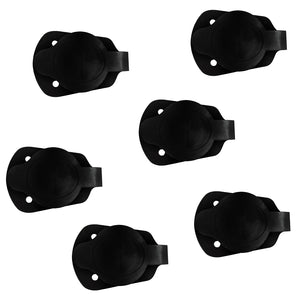 6 Pieces Cap and Gasket for Flush Mount Rod Holder Fishing Kayak Canoe Boat