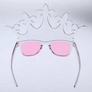 Christmas Carnival Party Sunglasses Photo Booth Princess Queen Crown Plastic Holiday Dress Up Glasses Costume Toy