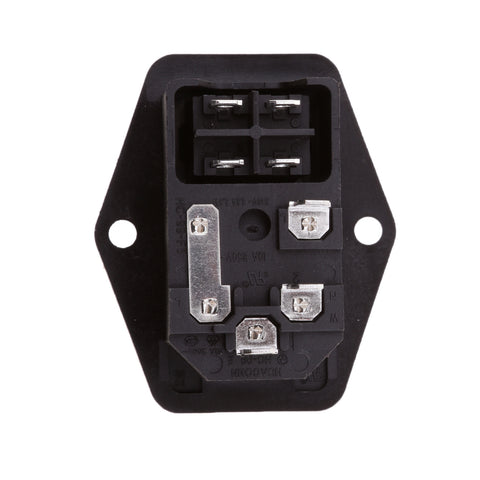 Image of 10A 120V 3 Pin Inlet Module Plug Fuse Switch Male Power Socket