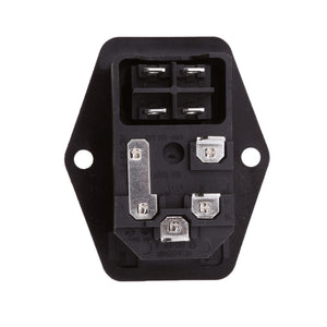 10A 120V 3 Pin Inlet Module Plug Fuse Switch Male Power Socket