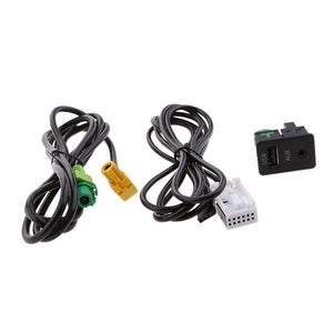 Car Speaker Interface USB and 3.5mm Aux Audio Input Adapter for VW Passat CC