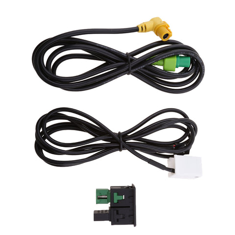 Image of Car Speaker Interface USB and 3.5mm Aux Audio Input Adapter for VW Passat CC