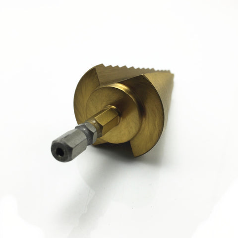 Image of Titanium HSS 13-Step Drill 6-35MM Hex Shank 1/4 Hole Cutter Drilling Tool