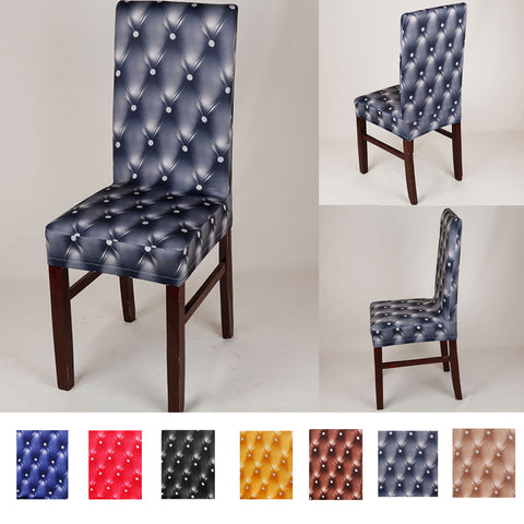 Image of Removable Elastic Dining Chair Slipcover Home Decorative Cover Wedding Banquet Decor Black